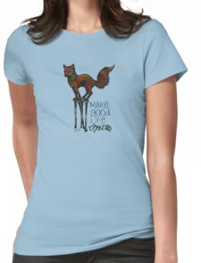Flounce, the Fox on Stilts (Sky) Womens Fitted T-Shirt