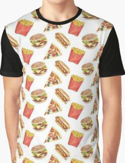Fast Food Graphic T-Shirt