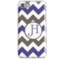Purple Chevron H iPhone Case/Skin