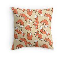 Gorgeous Fox Pattern Throw Pillow