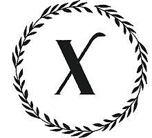 Monogram Wreath - X Photographic Print