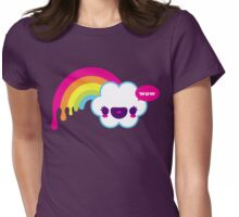 Wow Rainbow Womens Fitted T-Shirt
