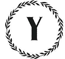 Monogram Wreath - Y Photographic Print