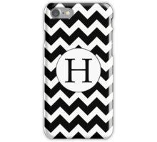 H Black Chevron iPhone Case/Skin