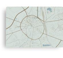 Leuven Map (Winter) Canvas Print