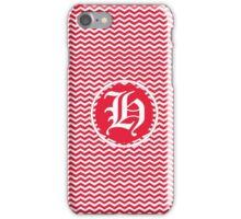 H Red Chevron iPhone Case/Skin