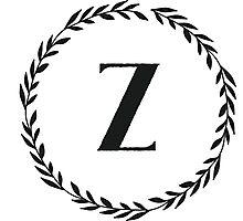 Monogram Wreath - Z Photographic Print