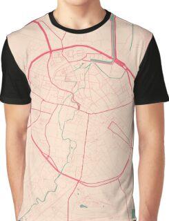 Leuven Map (Springtime) Graphic T-Shirt