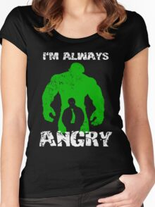 I'm Always Angry! Women's Fitted Scoop T-Shirt