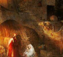 Bible - Jesus - Seeking the Christ child 1920 Sticker