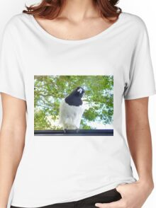 Hello , nice morning . [ Pied Butcher Bird.] Women's Relaxed Fit T-Shirt