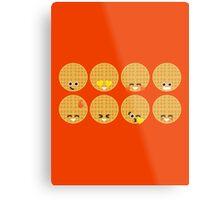 Emoji Building - Waffles Metal Print