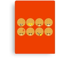 Emoji Building - Waffles Canvas Print