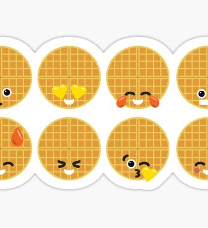 Emoji Building - Waffles Sticker