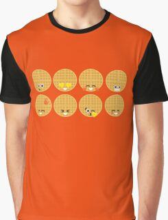Emoji Building - Waffles Graphic T-Shirt