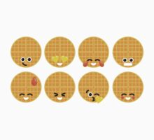 Emoji Building - Waffles One Piece - Short Sleeve