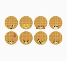 Emoji Building - Waffles Kids Tee