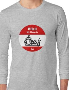 Ohell My Name Is graffiti sticker logo Red Long Sleeve T-Shirt