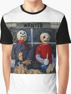 Wanted Halloween Monsters Gang Graphic T-Shirt