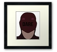 Daredevil face Framed Print