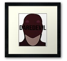 Daredevil text Framed Print