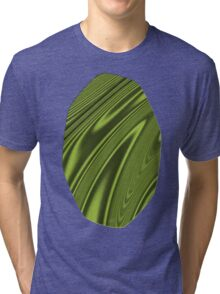 Abstract Fractal Colorways 03 Malalchite Lime Green Tri-blend T-Shirt