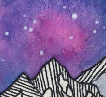 Moon Galaxy Mountain Travel Wanderlust Stars Space Boho Hipster Print Sticker