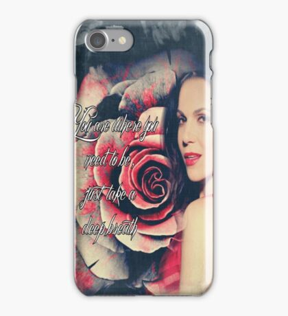 Lana Parrilla Red Rose iPhone Case/Skin