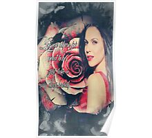 Lana Parrilla Red Rose Poster