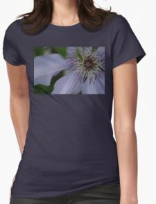 clematis close up Womens Fitted T-Shirt