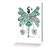 Turquoise Burlesque Greeting Card