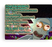 Rick & Morty 100 years Canvas Print