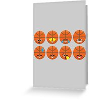 Emoji Building - Basketball Greeting Card