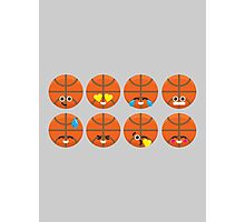 Emoji Building - Basketball Photographic Print