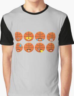 Emoji Building - Basketball Graphic T-Shirt