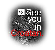see you in croatan Photographic Print