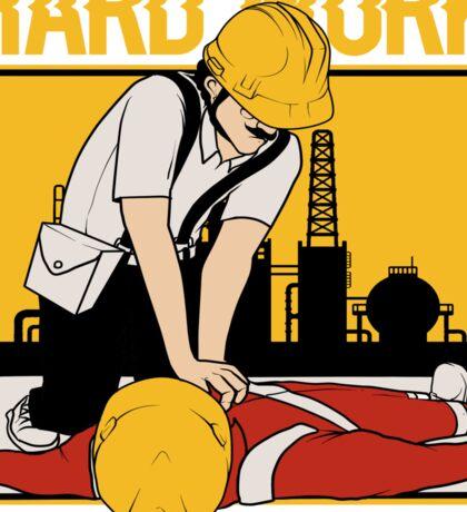 Hard Work First Aid Sticker