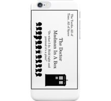 Doctor's Card iPhone Case/Skin