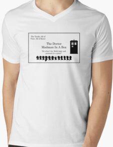 Doctor's Card Mens V-Neck T-Shirt