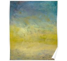 Oil painted sky gradient Poster