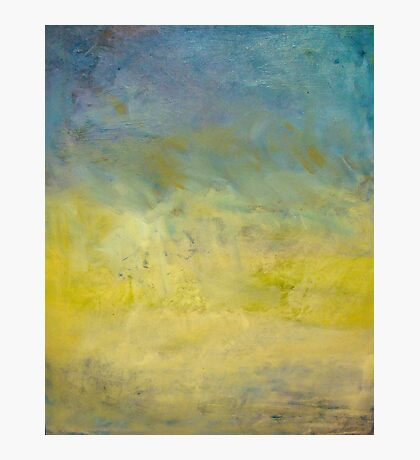 Oil painted sky gradient Photographic Print