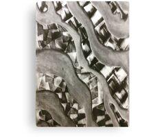 Printed Waves Canvas Print