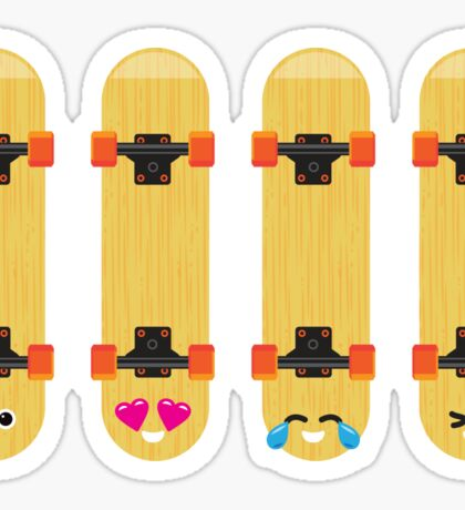 Emoji Building - Skateboards Sticker