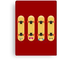 Emoji Building - Skateboards Canvas Print