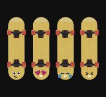 Emoji Building - Skateboards Kids Tee