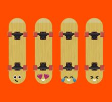 Emoji Building - Skateboards Kids Tee