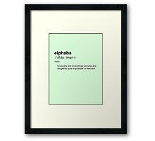 Wicked definition - Elphaba Framed Print
