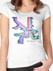 Adelaide Rail System Women's Fitted Scoop T-Shirt