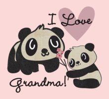 Panda Bears I Love Grandma Kids Tee