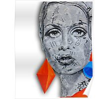 Newspaper Ink Design Twiggy Poster